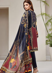 FRS03 Midnight Glory - Unstitched Farasha Embroidered Lawn Suit 2020 - Memsaab Online