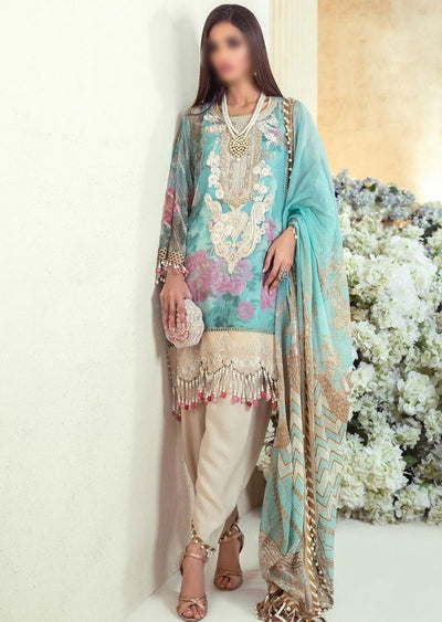 E201-003A - Unstitched - Sana Safinaz Luxury Festive Collection 2020 - Memsaab Online