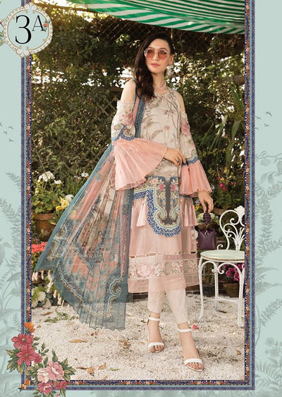 MBS03 - A - Unstitched - Maria B MPrints Summer Collection 2020 - Memsaab Online