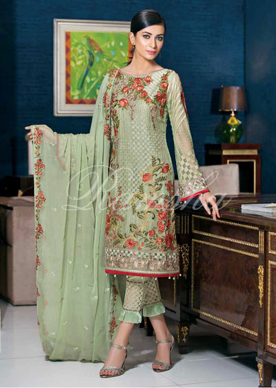 F-1503 - Ramsha Zari Volume 15 Glorious Collection - pakistani embroidered chiffon salwar kameez uk - Memsaab Online