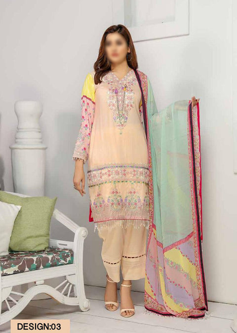 NH03 - Unstitched - Pre Fall Linen Collection by Nisha Designer 2020 - Memsaab Online