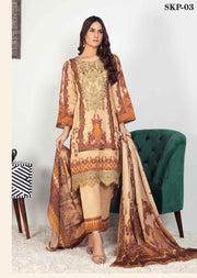 SKP-03 - Readymade - Riwayat Khaddar Collection by Simrans - Memsaab Online