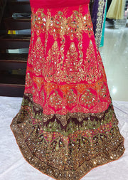 DXS02 Readymade Silk Embroidered Skirt. - Memsaab Online