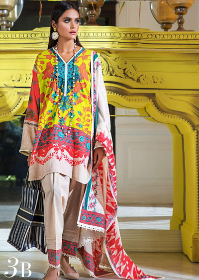 B - Unstitched - Mahay by Sana Safinaz Winter Collection - Memsaab Online