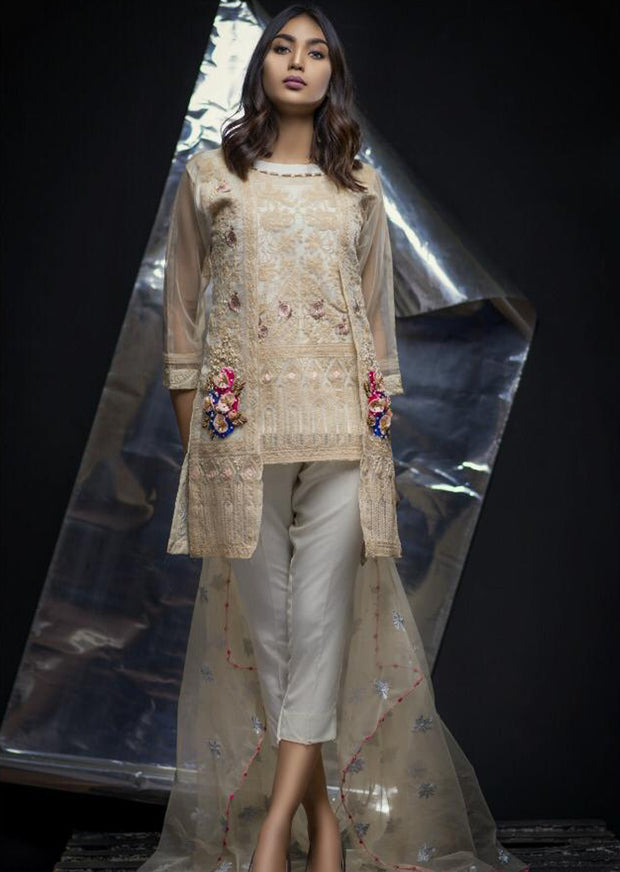 Elayna - Cream - Eternal by Memsaab - Ready to Wear Pakistani Designer Suit with handwork - Memsaab Online