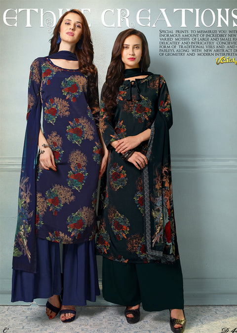 V4313 - Vaishali - Unstitched Collection 2019 - Designer Salwar Kameez suits A - B - Memsaab Online