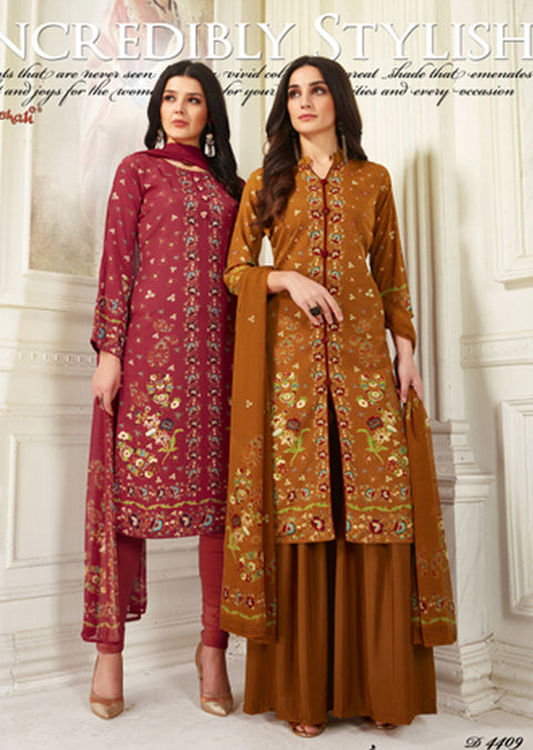 4409 Vaishali Prints Unstitched Collection 2019 - Salwar Kameez - A B - Memsaab Online
