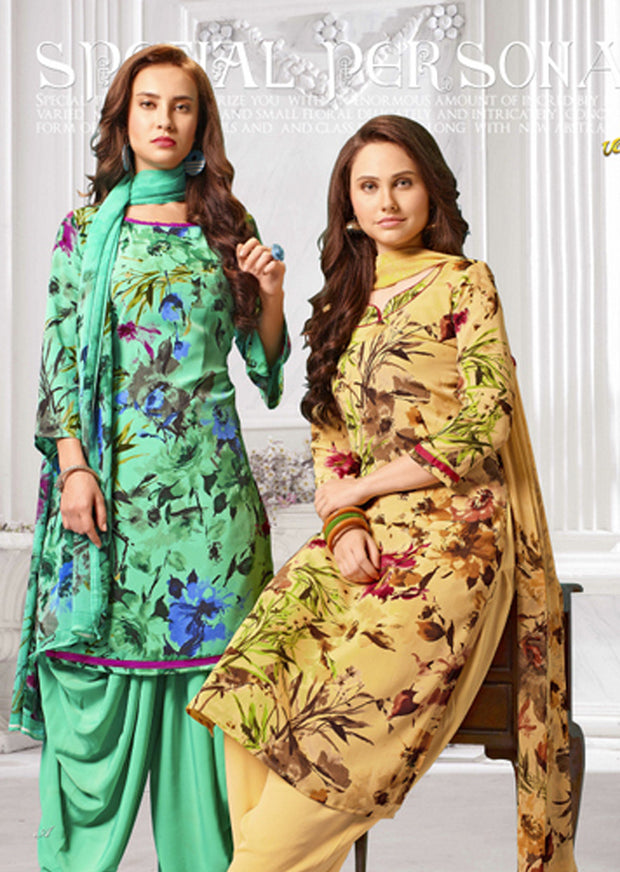 4419 Vaishali Prints Unstitched Collection 2019 - Salwar Kameez - C D - Memsaab Online