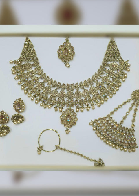 4639 Necklace Set Gold - Memsaab Online