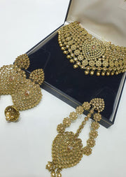 4640 Necklace Set Gold - Memsaab Online