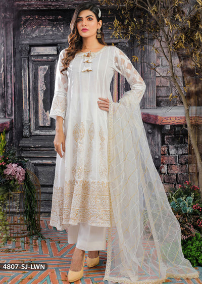 4807 Readymade Casual Lawn Dress - Memsaab Online