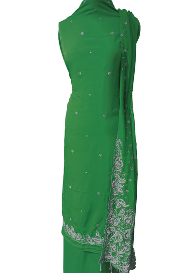 Crepe with Heavy Dupatta Suit - Memsaab Online