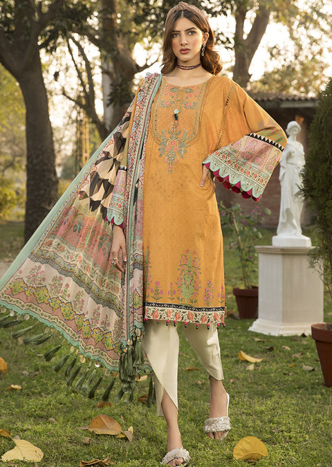 04 A Readymade Maria B Inspired Linen Suit - Memsaab Online