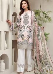 FRS04 Butterfly Blush - Unstitched Farasha Embroidered Lawn Suit 2020 - Memsaab Online