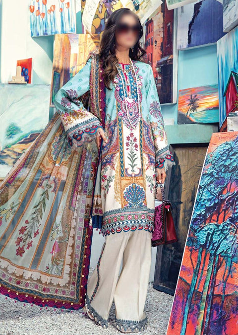 AV04-A - Alice - Unstitched - Viva Lawn Collection 2021 - Anaya by Kiran Chaudhry - Memsaab Online