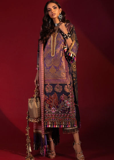 B204-A - Unstitched Kurnool Luxury Collection By Sana Safinaz 2020 - Memsaab Online