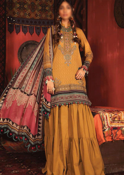 MIR-4A - Unstitched Maria B Inspired Winter Twill Suit - Memsaab Online