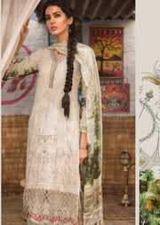 4A Maria B M Prints Unstitched 2019 - Pakistani Designer Embroidered Lawn Suit Spring / Summer UK DELIVERY - Memsaab Online