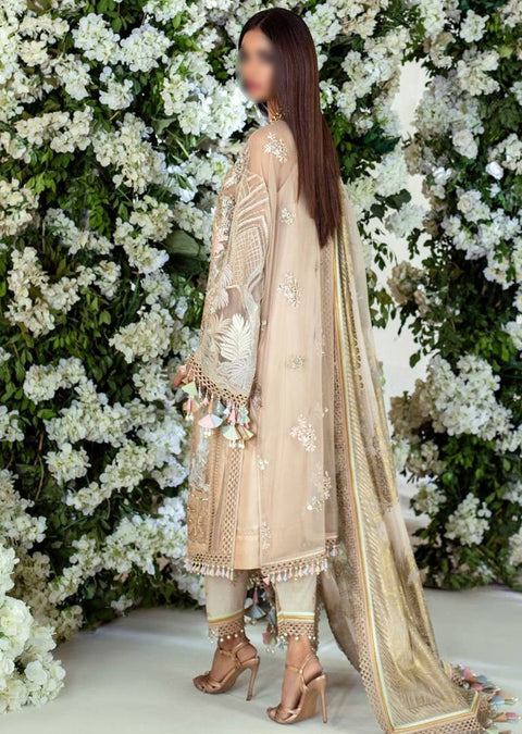 E201-004A - Unstitched - Sana Safinaz Luxury Festive Collection 2020 - Memsaab Online