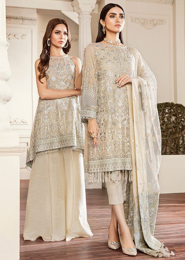 04 Crystal Dust Chantelle Embroidered Chiffon - Memsaab Online