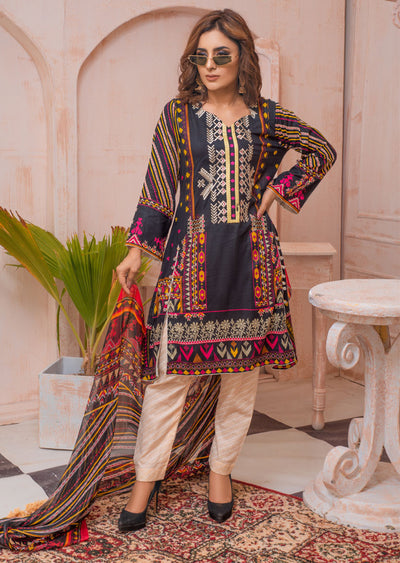AMT20032 - Readymade Embroidered Lawn Dress - Memsaab Online