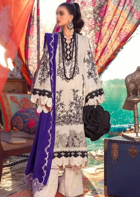 SNS04-B - Unstitched - Sana Safinaz Fall/Winter Collection 2020 - Memsaab Online