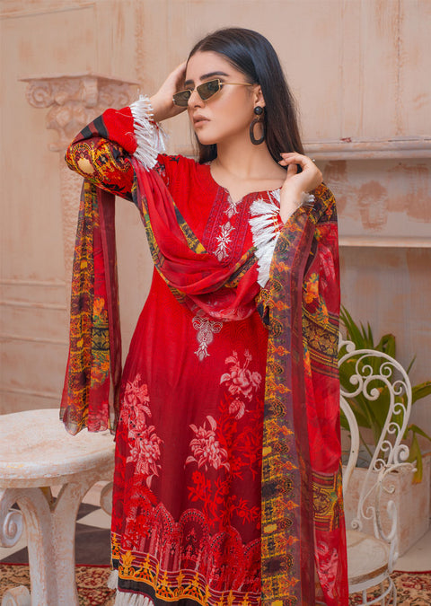 AMT20029 - Readymade Embroidered Lawn Suit - Memsaab Online
