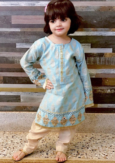MRS01K Readymade Kids Turquoise Summer Suit - Memsaab Online