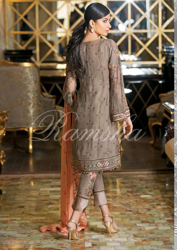 F-1504 - Ramsha Zari Volume 15 Glorious Collection - pakistani embroidered chiffon salwar kameez uk - Memsaab Online
