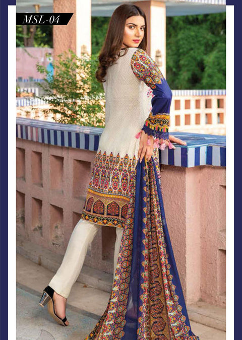 MSSL04 - Readymade - Munira Digital Airjet Lawn Collection 2020 - Memsaab Online