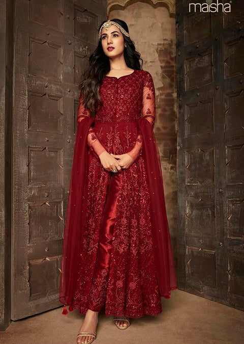 7204 Maisha INSPIRED / REPLICA Aafreen Vol 2 - Unstitched - Indian Partywear Dress Collection - Memsaab Online