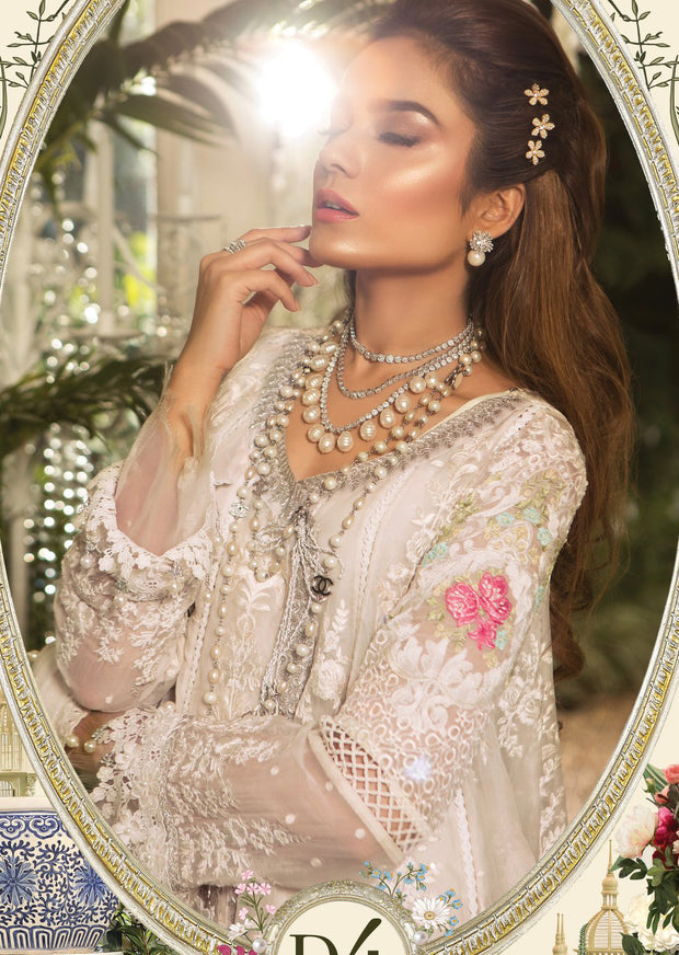 0861d584c9a D4 Maria B M Broidered Eid Collection 2019 - Unstitched Fancy party wedding  wear designer suit -