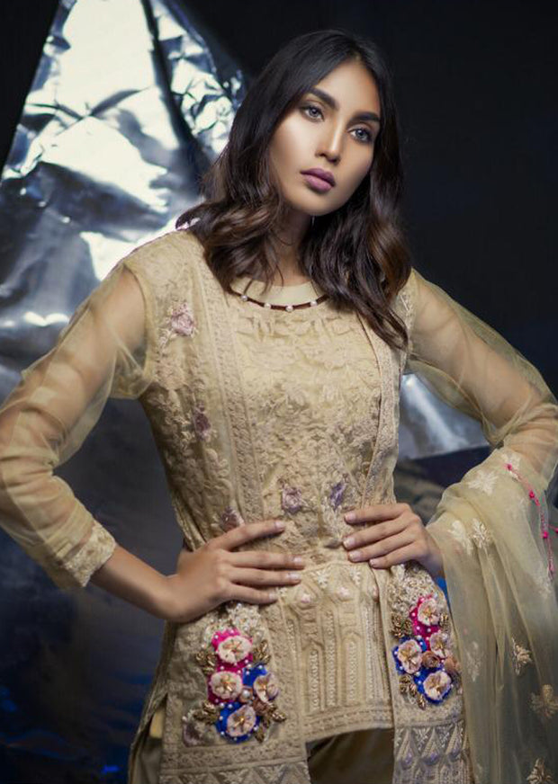 Elayna - Gold - Eternal by Memsaab - Ready to Wear Pakistani Designer Suit with handwork - Memsaab Online