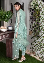Amura - Mint - Memsaab Exclusive Ready to Wear Eid Collection - Partywear Net Organza Dresses - Memsaab Online