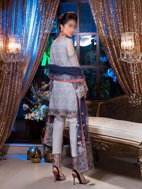 MG-17 Maryam's Unstitched Midnight Bluessoms - Memsaab Online