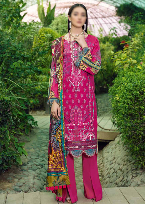 C-502R - Readymade - Chevron Vol 5 Lawn Collection by Ramsha 2021 - Memsaab Online