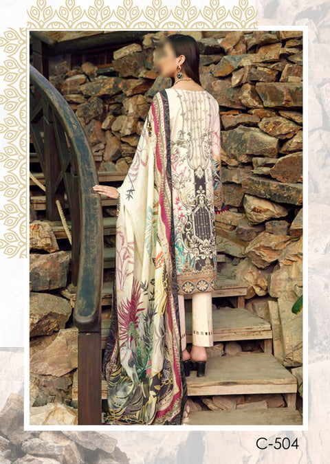 C-504R - Readymade - Chevron Vol 5 Lawn Collection by Ramsha 2021 - Memsaab Online