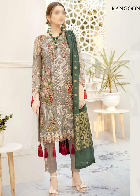 READYMADE Rangoon By Ramsha Collection Vol 5 - Pakistani Designerwear - Memsaab Online