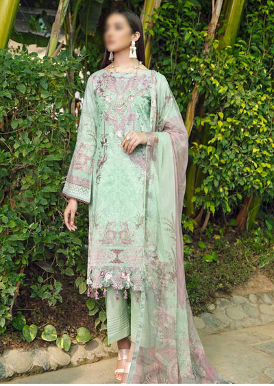 C-509R - Readymade - Chevron Vol 5 Lawn Collection by Ramsha 2021 - Memsaab Online