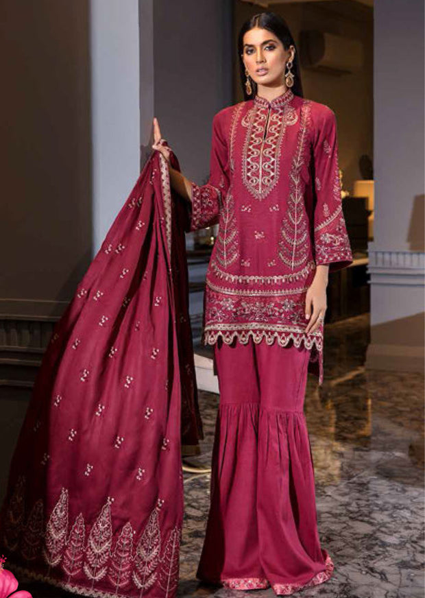 EA-511 Unstitched - Eshaisha Luxury Winter Embroidered Collection 2019 - Pakistani Designer Clothes - Memsaab Online
