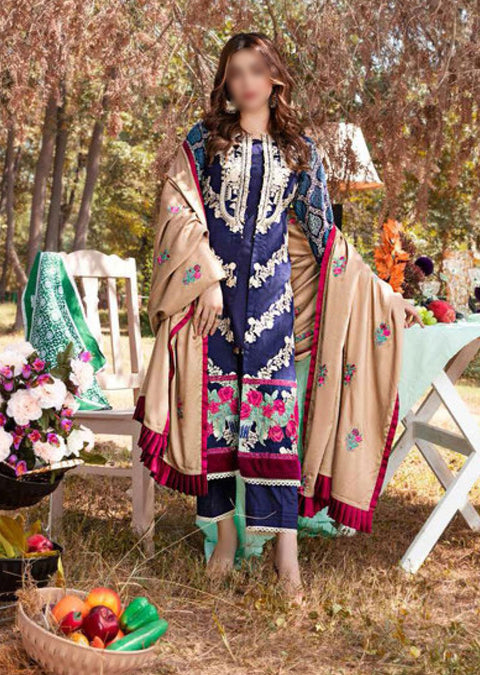 EW-511 - Unstitched - Eshaisha Luxury Winter Embroidered Collection 2020 - Memsaab Online