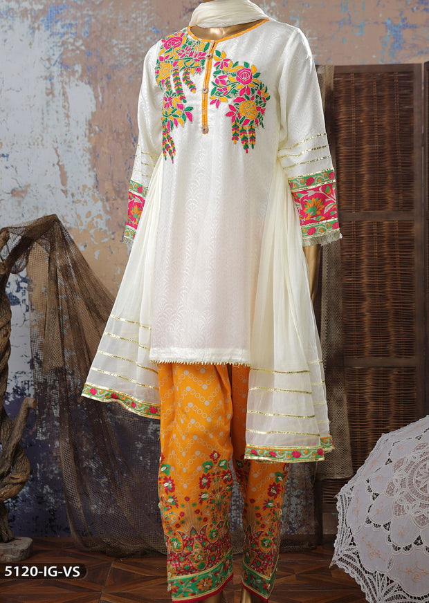 5120 Readymade Shaposh Embroidered Suit - Memsaab Online