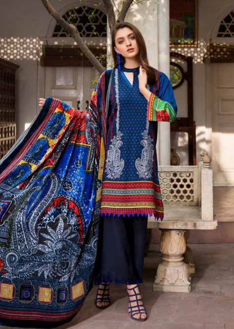 ESHT512 Eshaaisha TWILL / KHADDAR / KARANDI EMBROIDERED COLLECTION 2018 - Memsaab Online