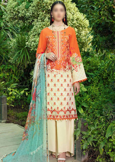 C-512R - Readymade - Chevron Vol 5 Lawn Collection by Ramsha 2021 - Memsaab Online