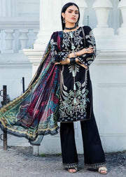 EA-512 Unstitched Eshaisha Luxury Lawn Embroidered Collection 2020 - Memsaab Online