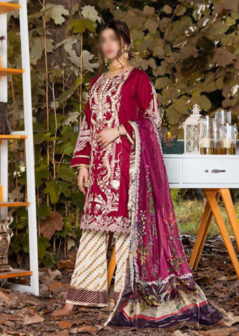 EW-513 - Unstitched - Eshaisha Luxury Winter Embroidered Collection 2020 - Memsaab Online