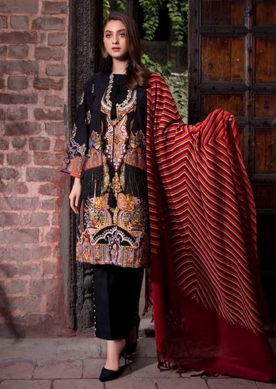 ESHT514 Eshaaisha TWILL / KHADDAR / KARANDI EMBROIDERED COLLECTION 2018