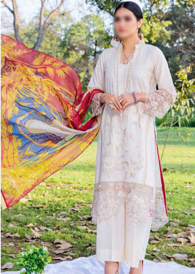 EA-513 Unstitched Eshaisha Luxury Lawn Embroidered Collection 2020 - Memsaab Online