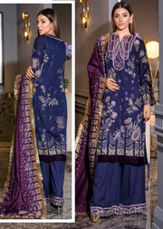 EA-513 Unstitched - Eshaisha Luxury Winter Embroidered Collection 2019 - Pakistani Designer Clothes - Memsaab Online