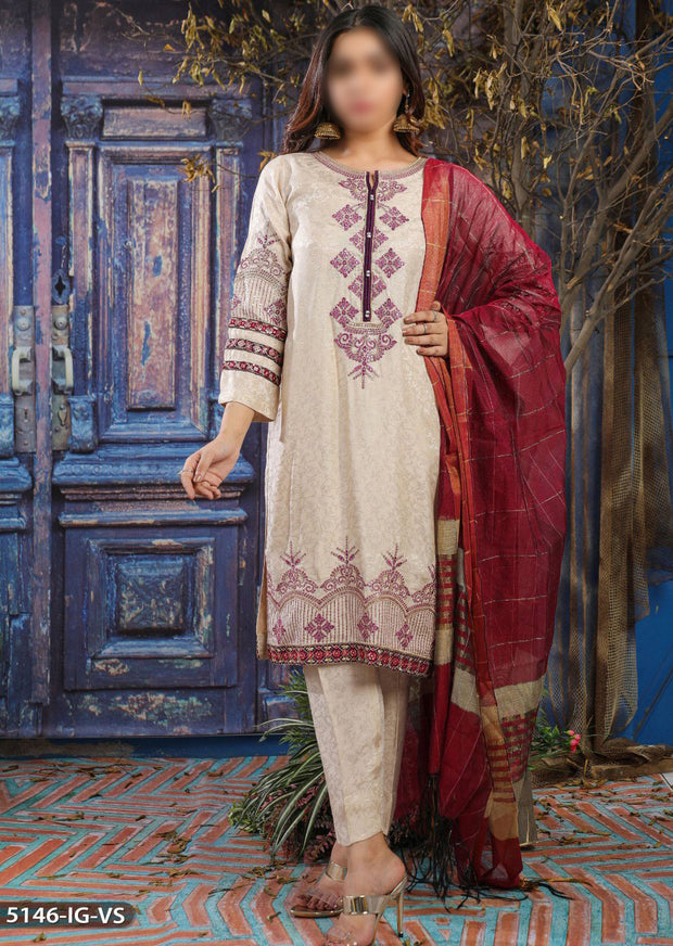 5146 Readymade Shaposh Embroidered Suit - Memsaab Online